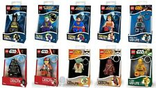 LEGO LED LITE KEY LIGHTS STAR WARS AND DC SUPER HEROES TORCH KEYRINGS BRAND NEW
