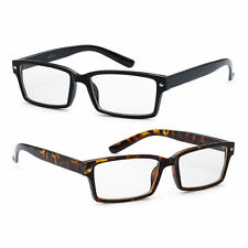 RECTANGLE BLACK UNISEX Mens Womens Clear Vintage Lens Nerd Geek Glasses Eyewear
