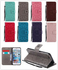 PU Leather Wallet Flip Pouch Stand Case Cover For Samsung S/J/A Series Sunflower