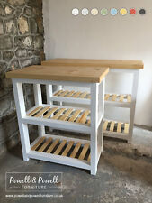 Gilwern Butchers Block Kitchen Island Handmade Bespoke Farmhouse Solid Wood