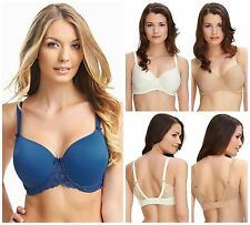 Fantasie Rebecca Lace Spacer Full Cup Side Support Bra 9421 Ivory, Sand, Marine