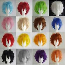 New Fashion short layered cosplay party  FREE SHIPPING+WIG CAP