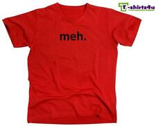 MEH Funny Geek Nerd Retro College Cool Party Tee - Mens T-Shirt - NEW - Red
