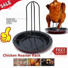 Practical Home Kitchen Cooking Baking Tools Carbon Steel Chicken Roaster Rack PY