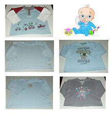 Baby Boys Cotton Long Sleeve Tops Size 9-12 Months