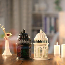 Free Standing Candle Lantern Holder Iron Craft Candlestick Home Wedding Decor