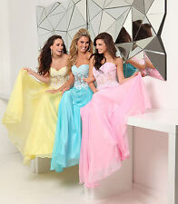 New Tony Bowls Yellow or Pink 115573 Sweetheart Lace Prom Evening Dress Sz 14