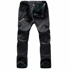 Mens Waterproof Mesh Lined Windproof Breathable Quick-dry Outdoor Trousers Pants