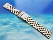 TAURUS Heavy Steel Brushed Divers Watch Band Bracelet WITH 2.5mm FAT BARS + TOOL