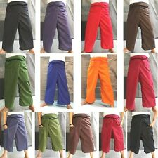 cotton thai fisherman wrap pants long wrap unisex yoga spa thai