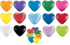 """Pack of 6 Qualatex 6"""" Heart Shaped Latex Party Balloons (1 of 2 Listings)"""
