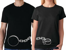 Ball and Chain Couple t shirts two shirts for one price