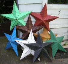 """authentic AMISH BARN TIN STAR primitive rustic 42"""" MANY COLORS red black white"""