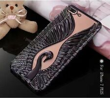 New 3D Soft Swan Wings Plating  Back Case cover for iPhone6/6s/7/Plus