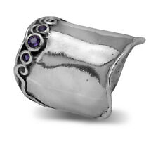 Designed 925 Sterling Silver Ring Amethyst CZ Purple Band Silver Ring
