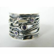 Designed 925 Sterling Silver Ring Amethyst CZ Purple Band Ring