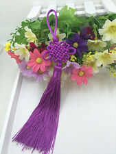 Chinese knot auspicious knot tassel delicate rayon junction Hang knot  purple