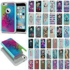 """For Apple iPhone 6 / iPhone 6S 4.7"""" Rugged Hybrid Rubber Silicone Case Cover"""
