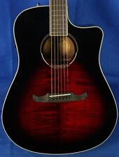 New! Fender T-Bucket 300CE Flame Maple Acoustic Electric Guitar - Cherry Burst