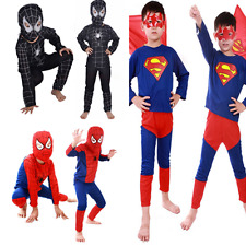 Boys Spiderman Costume Fancy Dress Party Kids Age 3-8 Years 3 Piece Outfit Suit