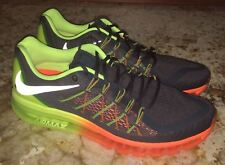 NEW Mens 15 NIKE AIR MAX 2015 360 Dk Grey Orange Volt Running Training Shoes