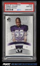 2003 SP Authentic Terrell Suggs ROOKIE RC AUTO PATCH /250 PSA 10 GEM MINT (PWCC)