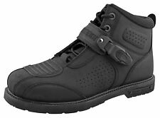 SPEED AND STRENGTH HARD KNOCK LIFE LEATHER MOTORCYCLE BOOTS BLACK, NIB