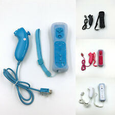 1*Built in Motion Plus Remote+Nunchuck Controller For Nintendo Wii+Silicone Case