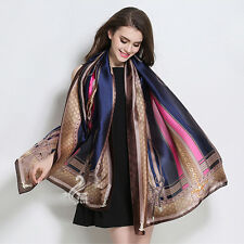 2017 Fashion Stylish Women Long Soft Silk Chiffon Scarf Wrap Shawl Scarves