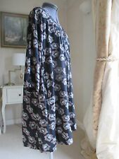 The Masai Clothing Company viscose floral artist tunic smock top LARGE 46