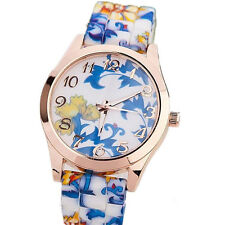 Sports New Watches Silicone Quartz Jelly Floral Watch Watch Fashion Women  1Pcs