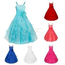 Wedding Formal Bridesmaid Party Ball Gown Prom Princess Flower Girls Kids Dress