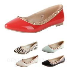 hana Womens shoes Office Ballerinas Vintage Pumps Ballet Indie stud Flats Size