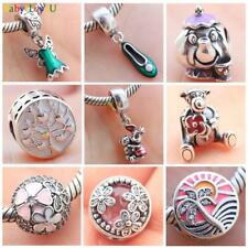 S925 sterling silver Tinker Bell's Shoe Dress Cartoon European Charm F Bracelet