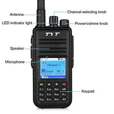 Ham Radio transceiver USB Band AM FM Digital Mobile LCD Channel Rechargeable