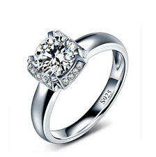 Breathtaking Size 6,7,8,9 Women White Sapphire 18K Gold Filled Wedding Ring Gift