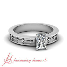 1/2 Ct Radiant Cut:Very Good Diamond Solitaire Engagement Ring VVS1-F Color GIA