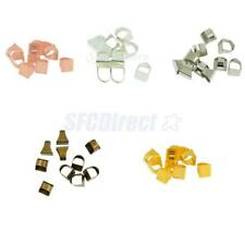10 Adjustable Brass Ring Blanks Base with Rectangle Pads Jewelry Making Findings