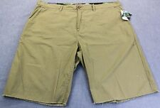 LRG Mens BEIGE KHAKI TRUE STRAIGHT FIT COTTON FRAYED SHORTS NWT Size 36  $62