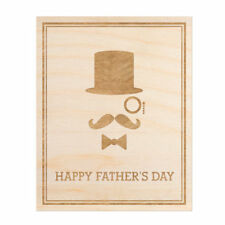 Woodums Dapper Father's Day Engraved Wood Sign Wall Decor