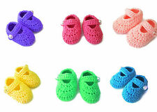 Crochet Knit Infant Newborn Baby Booties Shoes Slippers Boys Girls