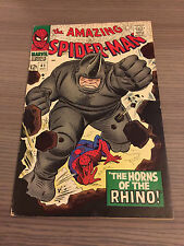 AMAZING SPIDER-MAN 41 1ST APP RHINO NICE SHAPE STAN LEE ROMITA