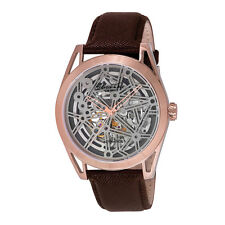 Kenneth Cole Silver Face New York Mens Analog Casual Brown Watch KC8082