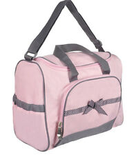 "Baby Essentials ""Dotty Bow"" 4-Piece Diaper Bag Set"