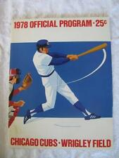 1978 Chicago Cubs Official Program Cubs vs. Montreal Expos 8-4-78 #TW
