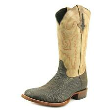Lucchese M4343 Sanded Men  Square Toe Leather Brown Western Boot