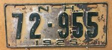 NEW HAMPSHIRE 1925 License Plate