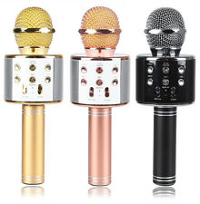 New Ws858 Metal Wireless Bluetooth Portable Microphone Singing Speaker Music KTV