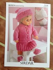 Sirdar Double Knitting Pattern for Dolls Clothes - 3119 Size 31cm to 56cm
