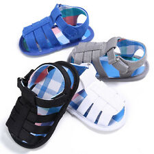 Baby Infant Kids Soft Sole Canvas Crib Shoes Toddler Newborn Sandals Shoes